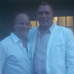 EA Kroll with HBO comedian Mike Marino