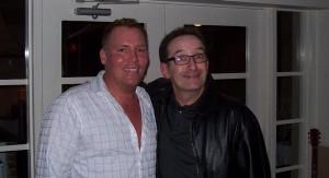 EA Kroll with comedian John Caffe